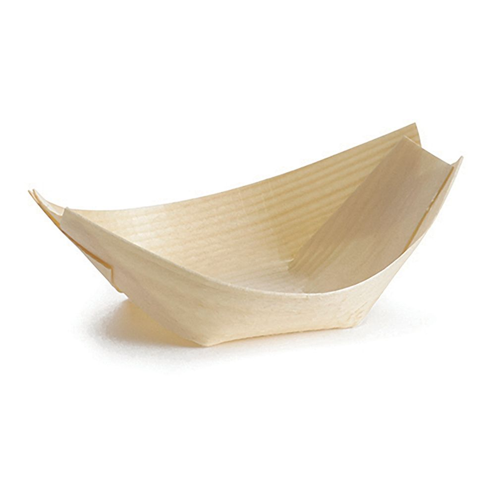 TableCraft® BAMDB3 Small 1 Oz. Disposable Wood Boat - 50 / PK