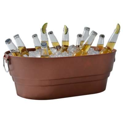 Continental Mfg 27070262 Copper 28 Qt Beverage Tub with Handles