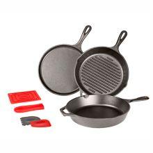 Lodge Manufacturing L6SPA41 Essentials 6-Piece Cast Iron Pan Set