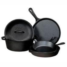 Lodge Manufacturing L5HS3 5-Piece Cast Iron Cookware Set