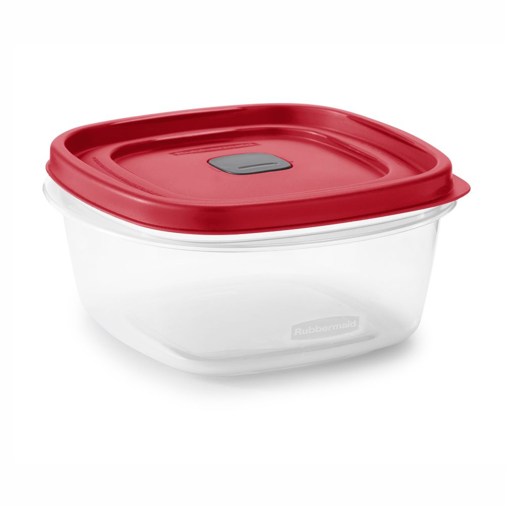 Rubbermaid 2030353 Easy Find 5-Cup Square Container with Lid - 3 / CS