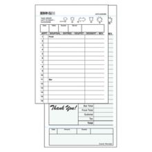 DayMark IT112933 Green Duplicate Carbon-Backed Guest Check - 40 / CS