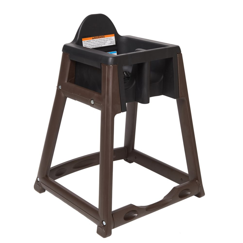 Koala Kare KB966-02 Kidsitter Black High Chair with Brown Legs