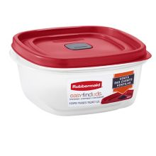 Rubbermaid 2030353 Easy Find 5-Cup Square Container with Lid