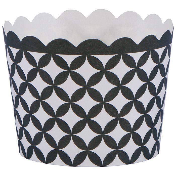 "Hoffmaster 600110 Black Diamond 1.5 x 2"" Baking Cup - 550 / CS"