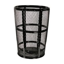 Witt Industries EXP-52BK EXP Collection Black Metal Trash Basket