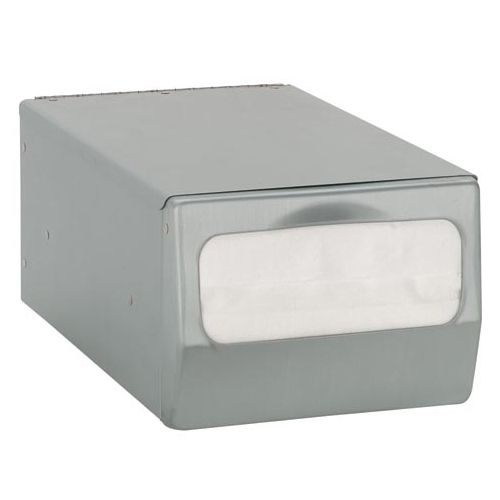 Diversified Metal CT-FULL-BS Satin Counter Full Fold Napkin Dispenser