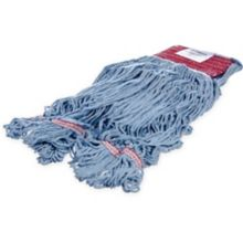 Carlisle 369454B14 Flo-Pac® Large Blue Yarn / Red Band Mop Head