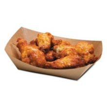 Bagcraft Papercon 300697 Coated Kraft 2# Food Tray - 1000 / CS
