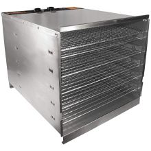 Hamilton Beach 74-1001-W Pro 1000 S/S / Chrome 10 Tray Dehydrator