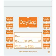 "Day Mark 112383 Clear/Orange Saturday 7 x 6.5"" Portion Bag - 8000 / CS"