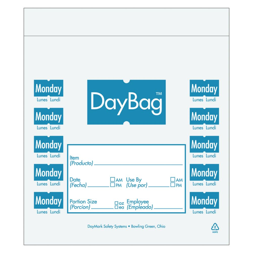 DayMark 112378 Clear/Blue Monday 7