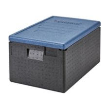This Cambro 48.6 quart top loading GoBox is a lightweight, insulated carrier. Designed to be eco‐friendly, it is made using high performance expanded polypropylene foam material that is ideal for food service operators.