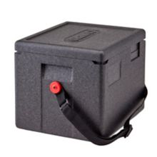 This Cambro Gobo is ideal or busy delivery operations. This half‐size Cam GoBox is equipped with a handy carrying strap for a convenient, single‐handed carry. It is the ideal size for off‐premise catering or corporate events