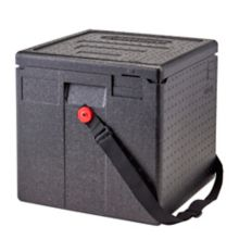 """The Cam GoBox Milk Crate Box is designed for serving ice cold milk during school breakfast and lunch, holding a 13"""" X 13"""" milk crate with 50 half pint milk cartons."""