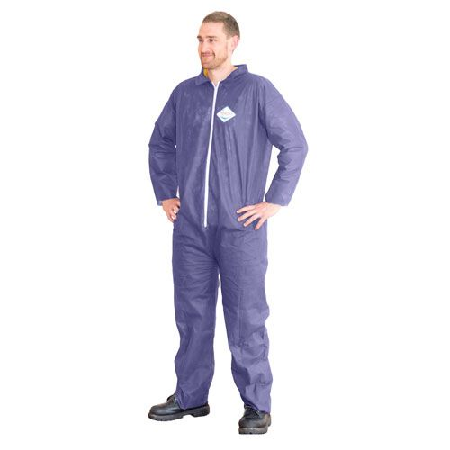 Darling Food Service  XL Blue Seamless Light Duty Coverall - 25 / CS