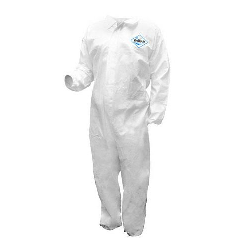 Darling Food Service Large White Breathable Coverall - 12 / PK