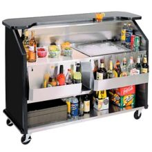 "Lakeside 887B Black Laminate Over S/S 63.5"" Portable Bar"
