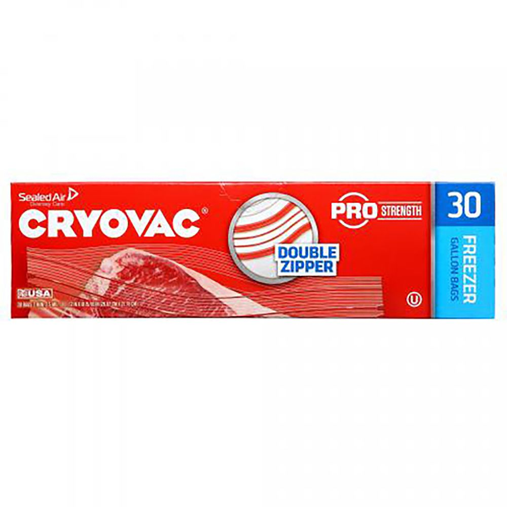 Diversey 100946912 2.5 Mil 1 Gallon Cryovac Freezer Bag - 270 / CS