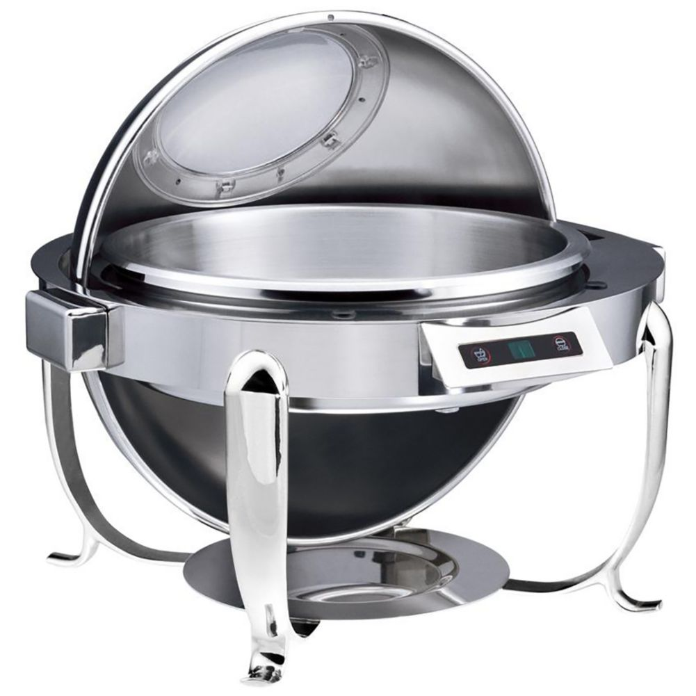 Bon Chef 16000CH Auto Open/Close Chrome 6 Quart Round Chafer