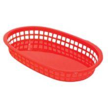 Update International BB107R Red Oval Fast Food Basket - Dozen