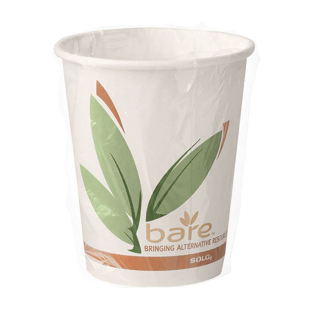 Solo W370RC-J8484 Bare By Solo 10 Oz. Paper Hot Cup - 480 / CS