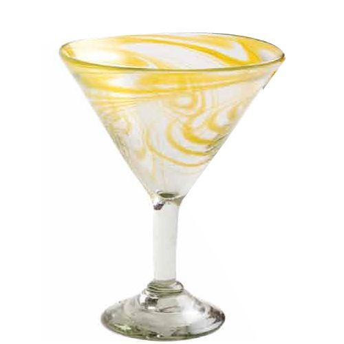 Orion Trading G266-AS 15 Oz. Amber Swirl Margarita Glass - Dozen
