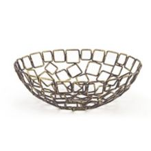 "FOH BBK013GOI22 Coppered Wireware™ 8"" Link Bowl - 6 / CS"