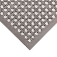 Notrax 436-971 Gray 3' x 5' Beveled Edge Tek-Tough Jr® Floor Mat