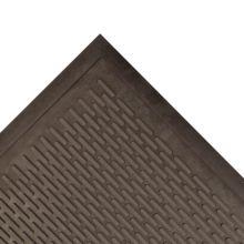 Notrax 065-587 Black 3' x 5' Ridge Scraper® Floor Mat