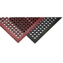 "Tomlinson 1035060 C-Kure 36 x 60 x 1/2"" Black Anti-Fatigue Mat"
