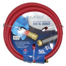 "Notrax 724-311 50' x 5/8"" Red Rubber Hot Water Hose"