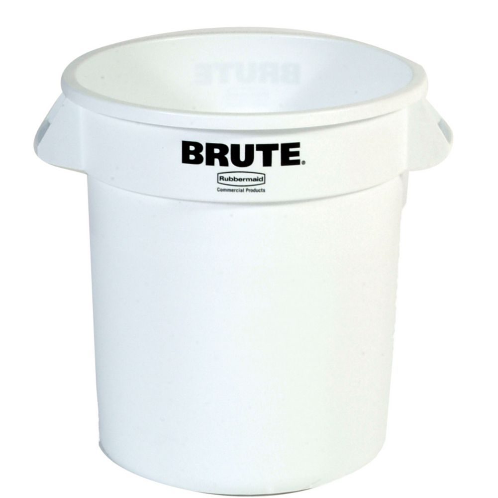 Rubbermaid FG261000 BRUTE White 10 Gallon Container without Lid