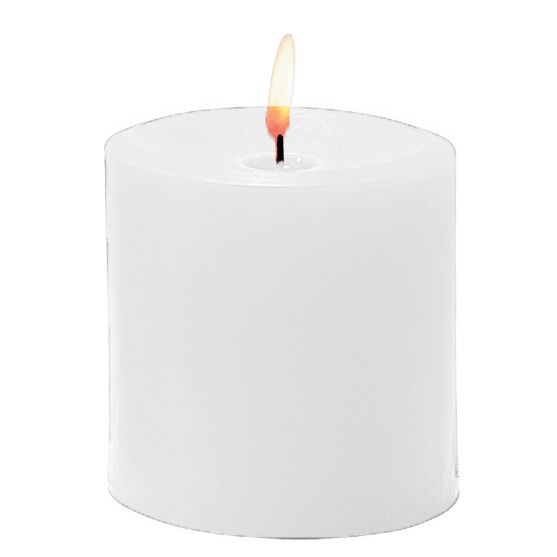 "Sterno Products® 40162 White 3.5"" Pillar Candle - 12 / CS"