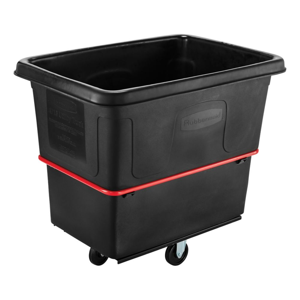 Rubbermaid Fg471600bla Black Heavy Duty 16 Cu Foot Utility Truck Wasserstrom
