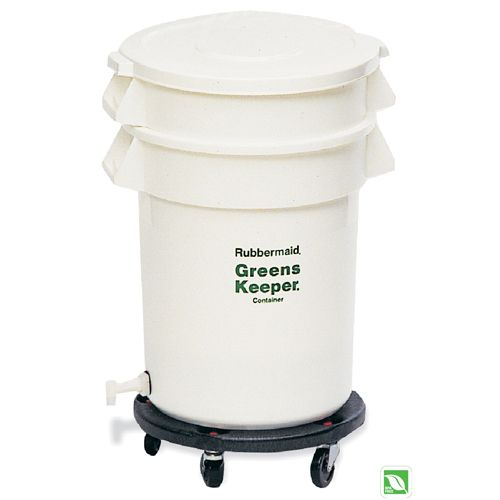 Rubbermaid FG262400 GreensKeeper 20 Gallon Container with Dolly