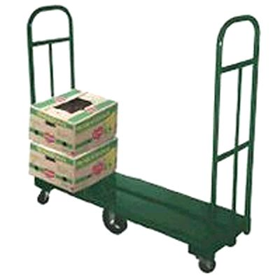 "Kelmax 4G0263 Green 18"" x 60"" 6-Wheel Steel Deck U-Boat Cart"