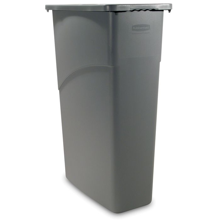 Rubbermaid® FG354099GRAY Slim Jim® 23 Gallon Waste Container