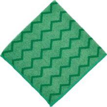 "Rubbermaid FGQ62000GRN HYGEN Green Microfiber 16"" Cleaning Cloth"