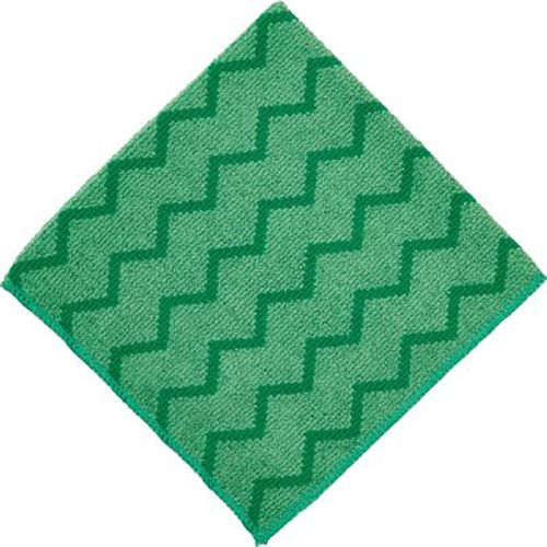 "Rubbermaid FGQ62000BL00 HYGEN Green Microfiber 16"" Cleaning Cloth"