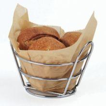 "G.E.T.® 4-22780 Chrome 5.38"" Round Bucket Basket"