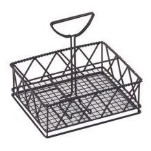G.E.T.® 4-931832 Black 5-Compartment Table Caddy