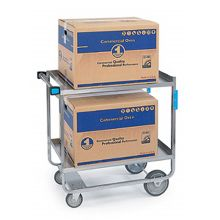 "Lakeside® 743 S/S HD 700 lb Capacity 21"" x 33"" 2-Shelf Cart"