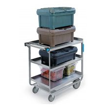 "Lakeside® 744 S/S HD 700 lb Capacity 21"" x 33"" 3-Shelf Cart"