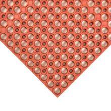 Notrax 439-632 Red 3' x 3' Tek-Tough® Floor Mat
