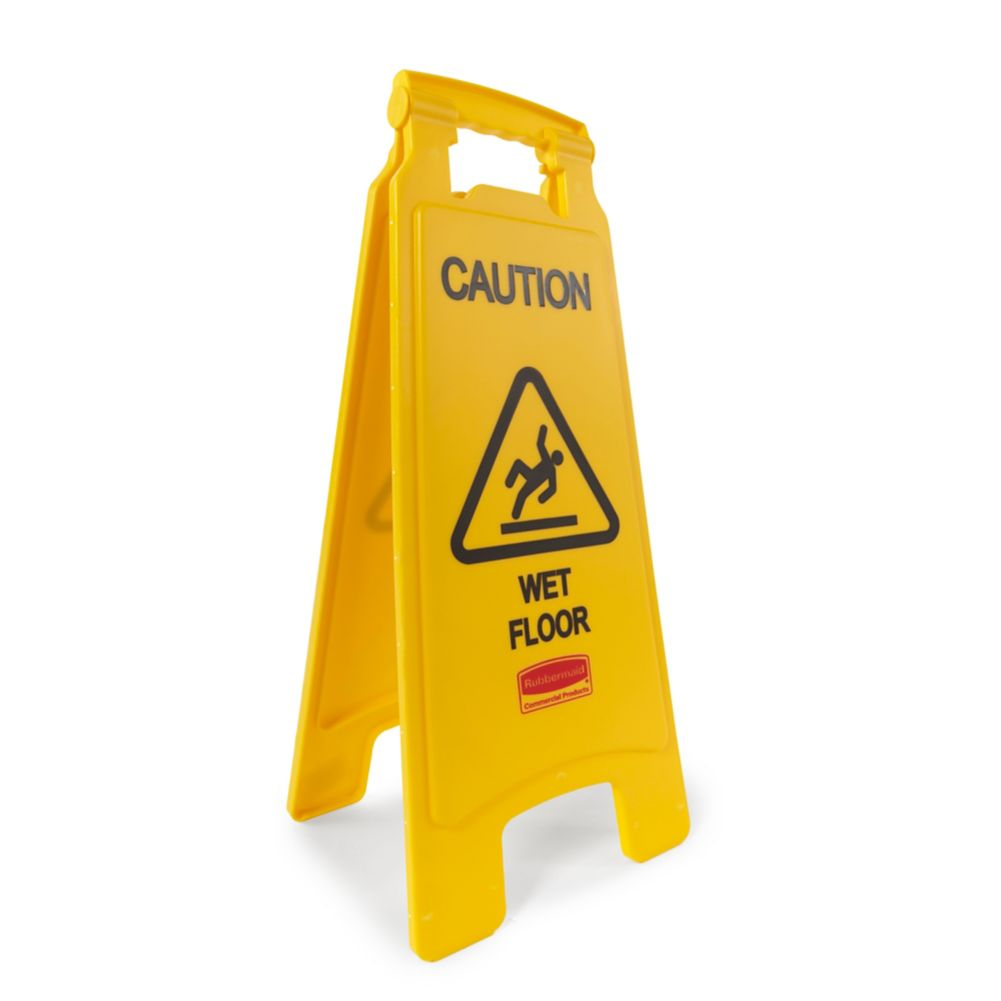 Rubbermaid® FG611277 2-Sided 26 In. Wet Floor Safety Floor Sign