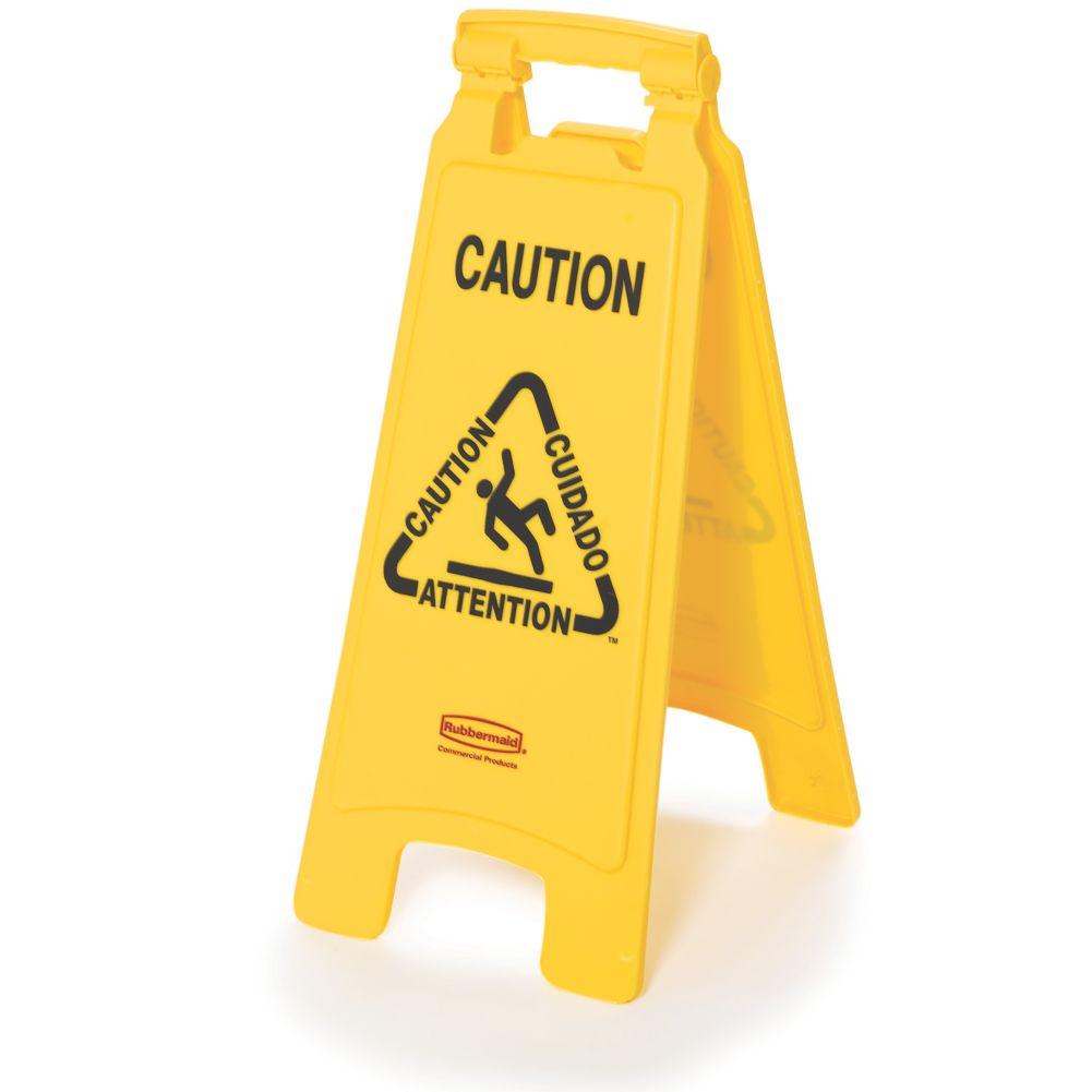 "Rubbermaid® FG611200 low 26"" Caution Sign"