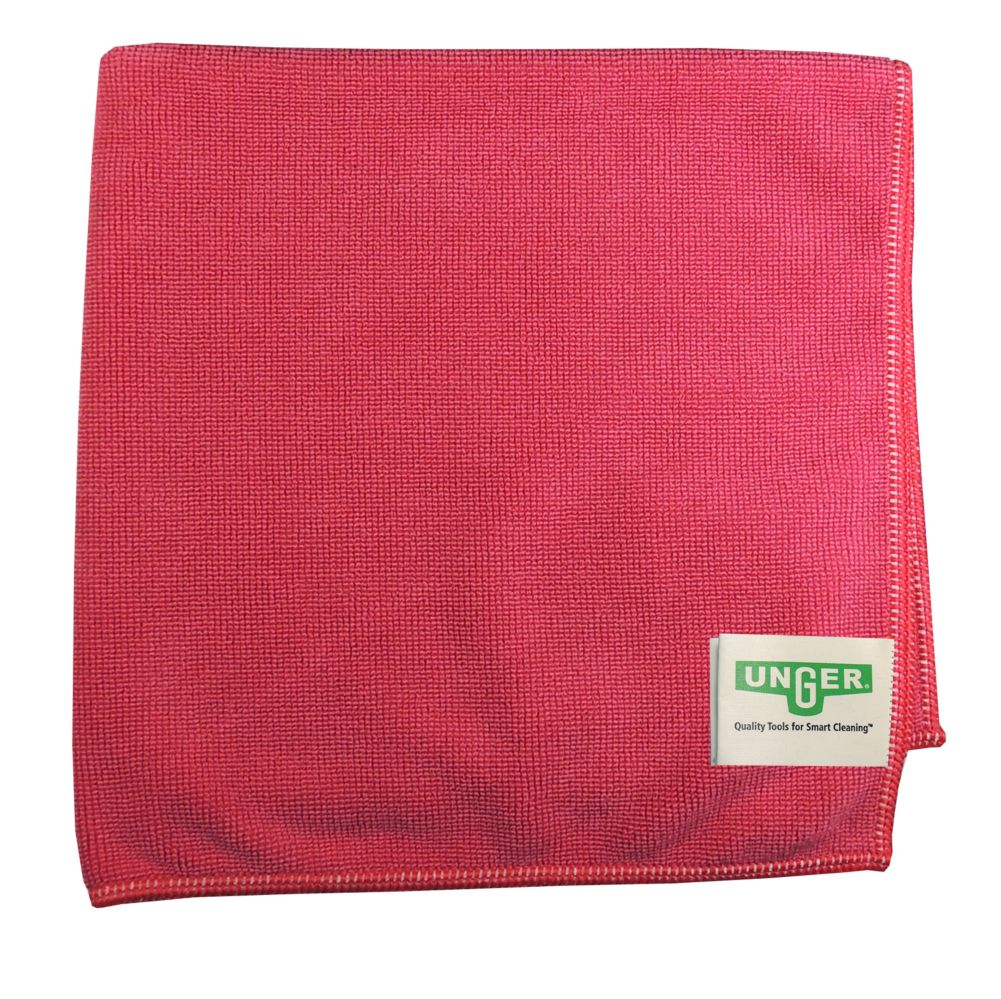 Unger® MC40R MicroWipe™ Light Duty Red Microfiber Cloth