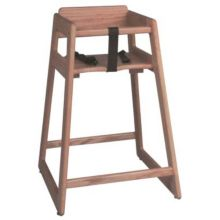 "Tomlinson® 1016303 Marston 29"" Natural Oak High Chair"