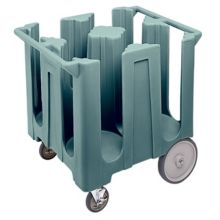 Cambro DC1225401 Slate Blue Poker Chip Style Dish Caddy with 4 Columns